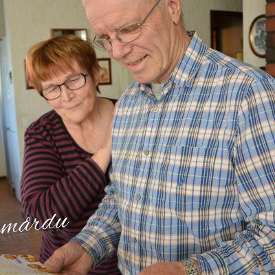 Hasse Nordman och hans fru och stöd Marja-Leena.