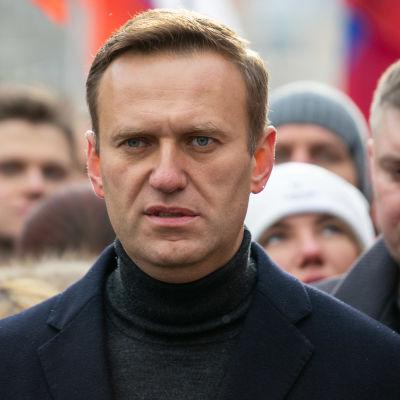 Aleksei Navalnyi on the Nemtsov memory march