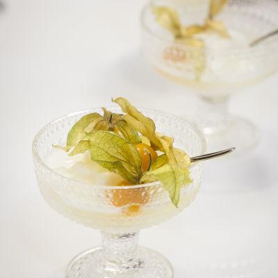 Citronsorbet med champagne