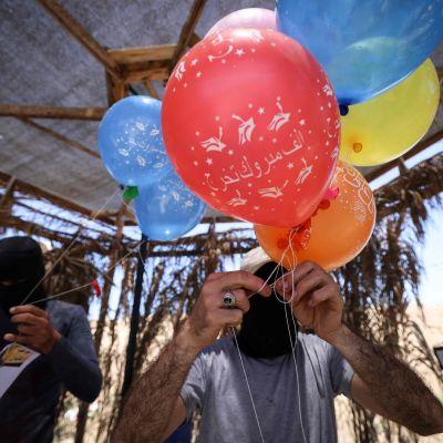 Gazasta lennätetään tuli-ilmapalloja Israelin puolelle