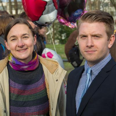 Monika Antikainen och Oscar Nyman.