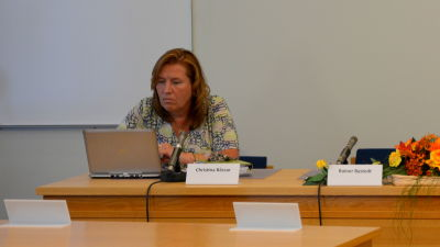 Vörås kommundirektör Christina Båssar och fullmäktiges ordförande Katarina Heikius.