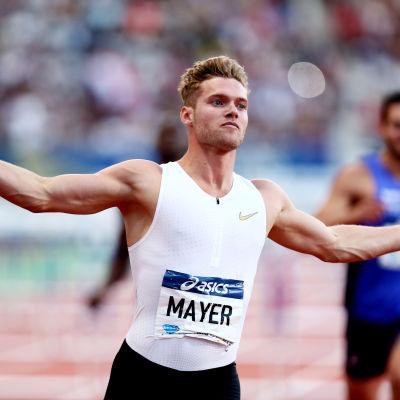 Kevin Mayer gjorde nytt världsrekord.