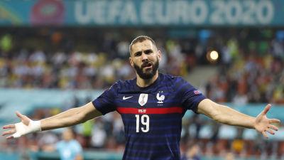 Karim Benzema firar mål i EM.