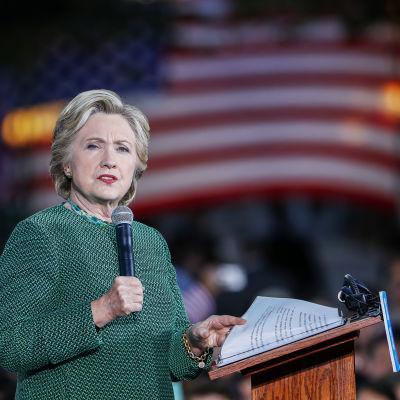 Hillary Clinton för kampanj i North Carolina den 23 oktober 2016