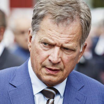President Sauli Niinistö i Nystad den 16 augusti 2017.