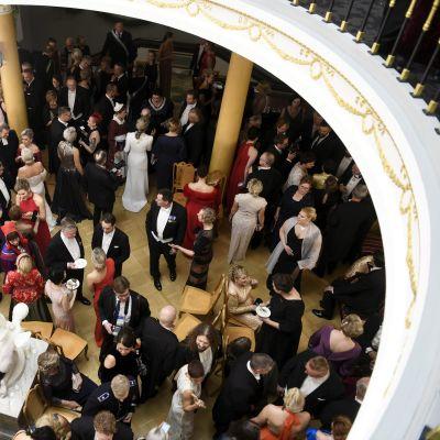 Gäster på slottet under självständighetsmottagningen 2019.