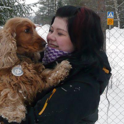 Marjut ja Netta-koira