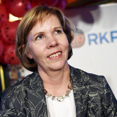 Anna-Maja Henriksson under valkvällen 2019.