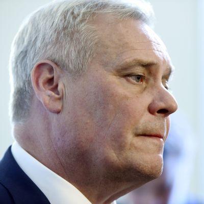 Socialdemokraternas ordförande Antti Rinne i riksdagen den 27 september 2017.