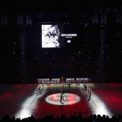 En tyst minut hålls i Montreal för Matiss Kivlenieks.