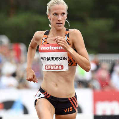 Camilla Richardsson på 3000 meter hinder i Kalevaspelen 2018.