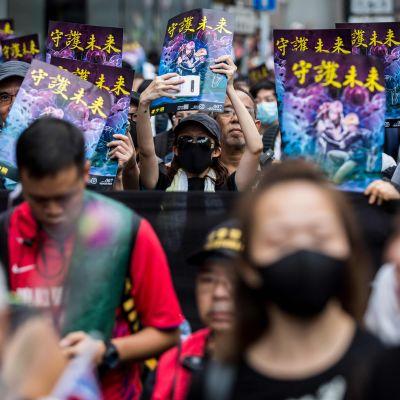 Demonstranter i Hongkong den 3 augusti 2019.
