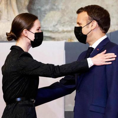Sanna Marin ja Emmanuel Macron