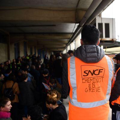 Tågstrejk i Frankrike