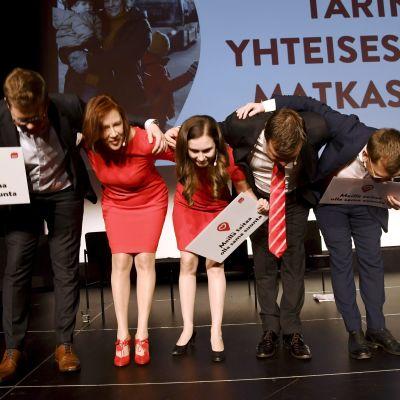 SDPs partistyrelse på kampanjstarten 2019.