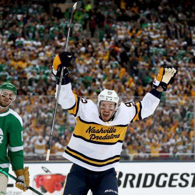 Jättiyleisö nautti NHL:n ulkoilmapelistä - Lindellille ja Hintzille syöttöpisteet