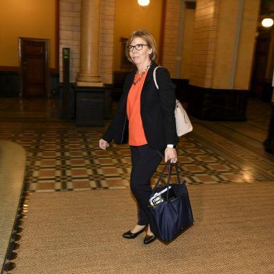 Justitieminister Anna-Maja Henriksson i Ständerhuset.