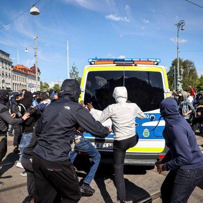 Oroligt i Göteborg vid demonstration 7.6.2020