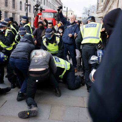 Demonstration mot poliser. London 3.4.2021