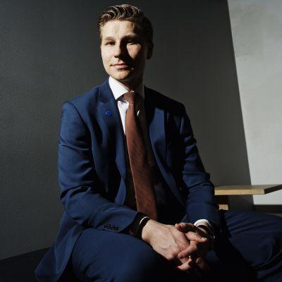 Finlands nya justitieminister Antti Häkkänen (Saml).