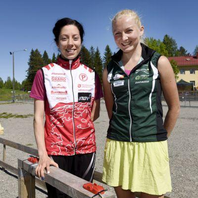 Venla Harju från Pyrintö och Marika Teini från SK Pohjantähti.
