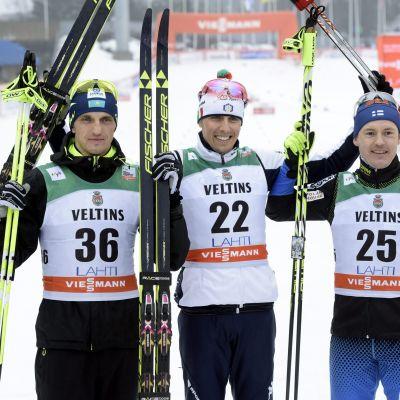 Poltaranin, de Fabiani och Jauhojärvi på pallen.