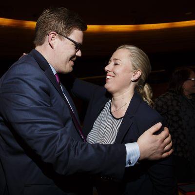 De socialdemokratiska riksdagsledmöterna Antti Lindtman och Jutta Urpilainen