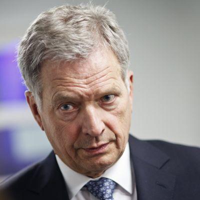Republikens president Sauli Niinistö.