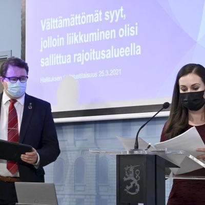 Mika Salminen ja Sanna Marin