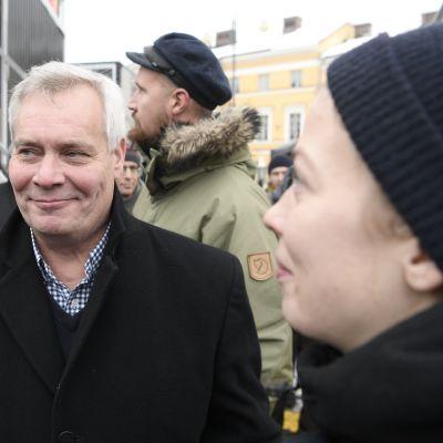 SDP:S ordförande Antti Rinne i Helsingfors den 2 februari 2018.