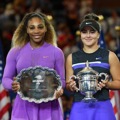 Serena Williams och Bianca Andreescu.