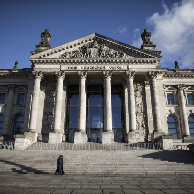 Tyska parlamentsbyggnaden i Berlin
