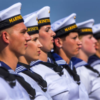 Tyska rekryter svär faned i marinteknologiskolan Parow.