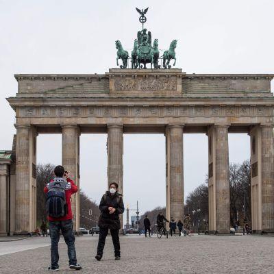 Brandenburg Tor i Berlin 20.3.2020