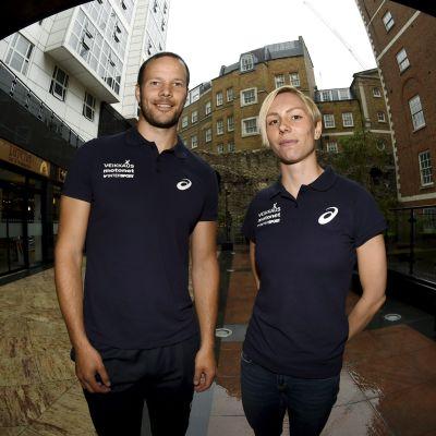 Tero Pitkämäki och Linda Sandblom, inför VM 2017.