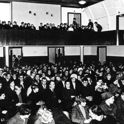 Biokväll i Pargas föreningshus 1960.