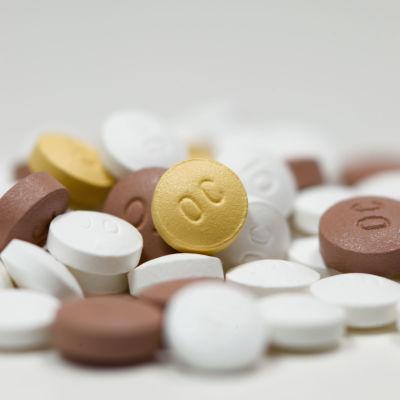 Bild på oxycontin piller.