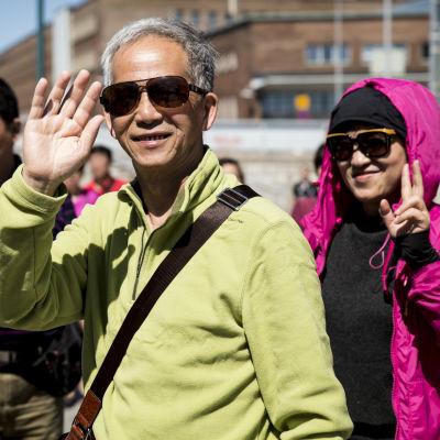 Kinesiska turister i Finland