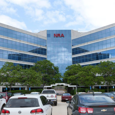 Nation Rifle Associations (NRA) högkvarter i Fairfax, Virginia.