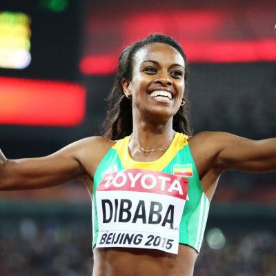 Genzebe Dibaba, VM i Peking 2015.