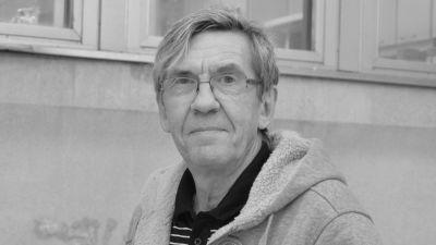 Svartvit bild på Hans Johansson