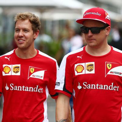 Sebastian Vettel och Kimi Räikkönen, hösten 2015.