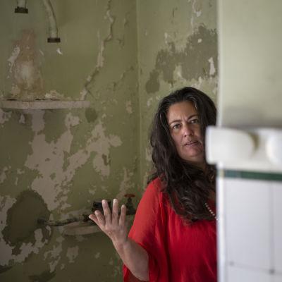 Maria Joao Never fotograferad i lägenheten där hon bor i Lissabon.