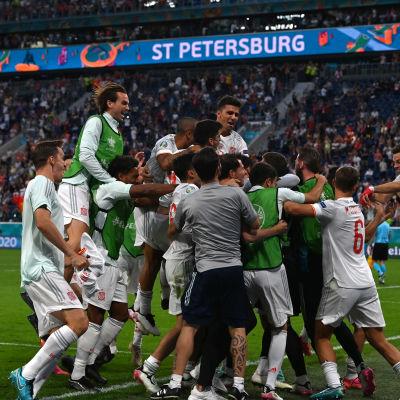 Spanien firar seger.