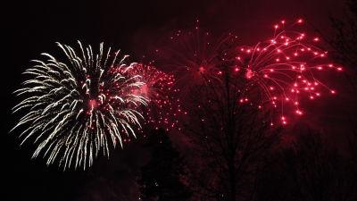 Nyårsraketer i Pojo i Raseborg