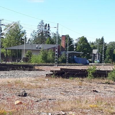 Järnvägen i Jakobstad.