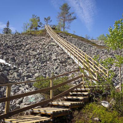 Ukko-Luoston portaat Pyhä-Luoston kansallispuistossa.
