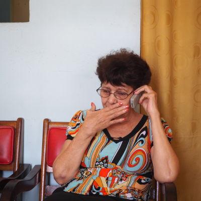 Maria Elena Errero i Havanna har ledsamt efter sin dotter Loraima Marimón som flytt till USA.