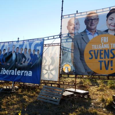 Valaffischer på Åland.